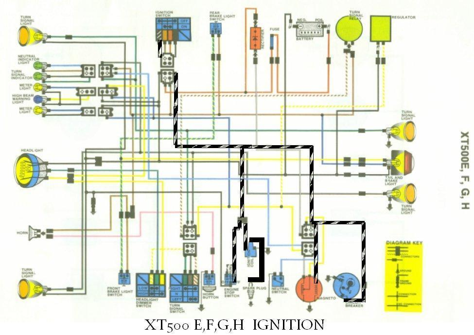 cdi ignition schematic xt500 electrical2  xt500 electrical2