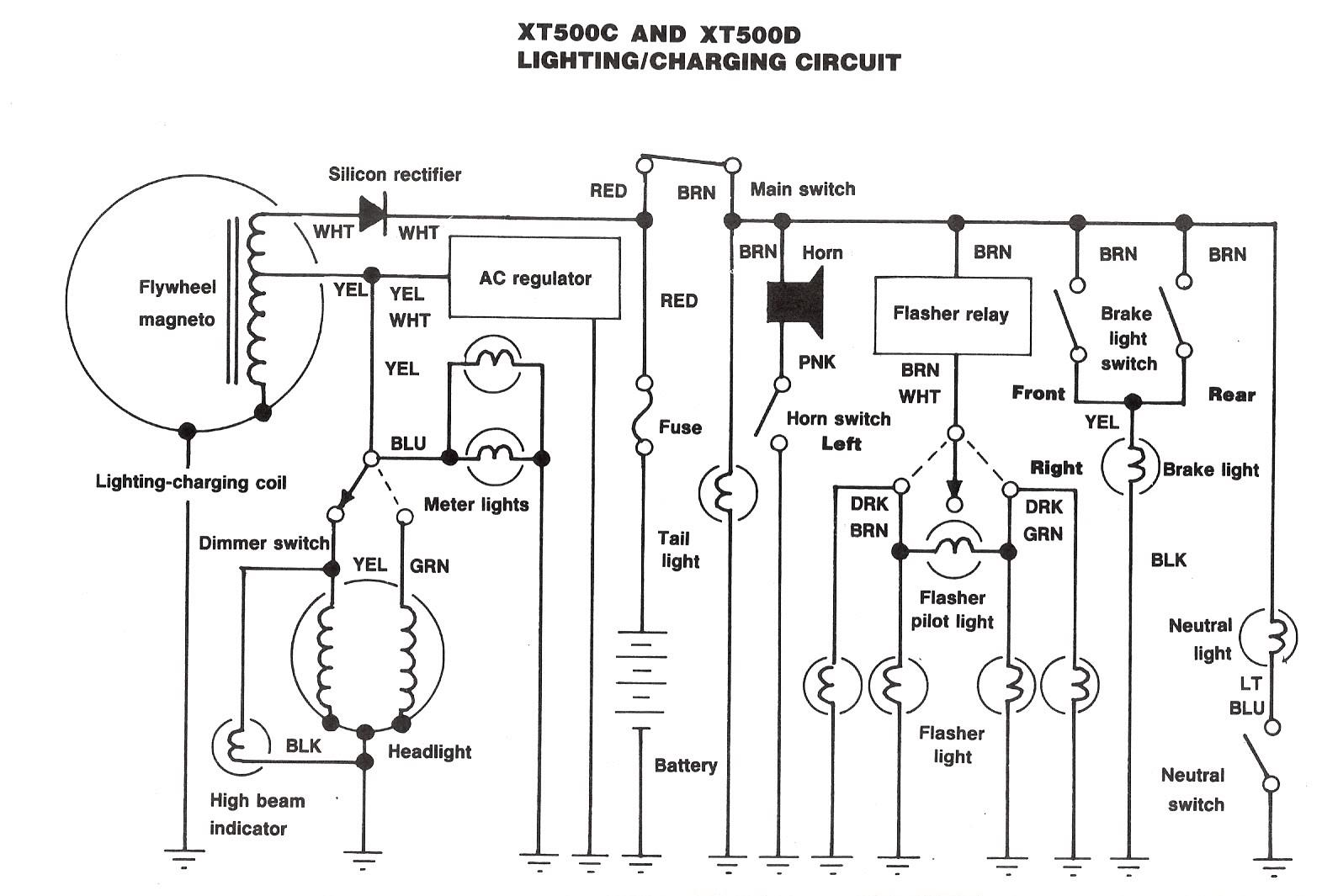 Xt500 Electrical2 Yamaha Drive Wiring Diagram The Us For 1980 And 1981