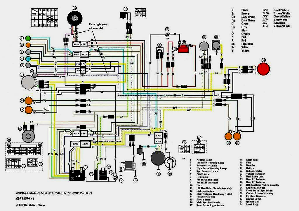 xt500 electrical2Here Is Ignition Switch Wiring Diagram #14